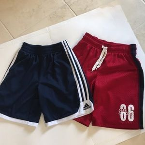 2Pc bundle Adidas Gap athletic shorts , boys 8